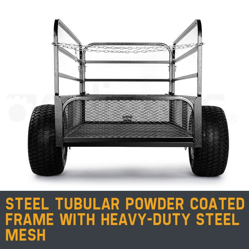 PLANTCRAFT Towed Steel Mesh Dump Cart Garden ATV Mower Trailer Tray 1250lbs by PlantCraft