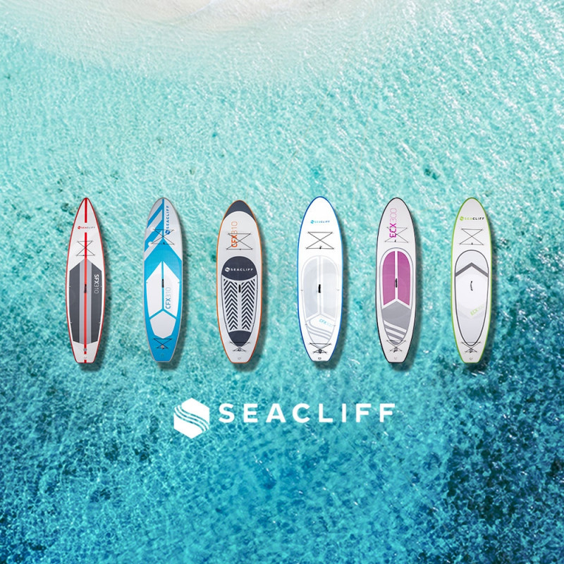 SEACLIFF Stand Up Paddle Board SUP Inflatable Paddleboard Kayak Surf Board White and Blue by Seacliff