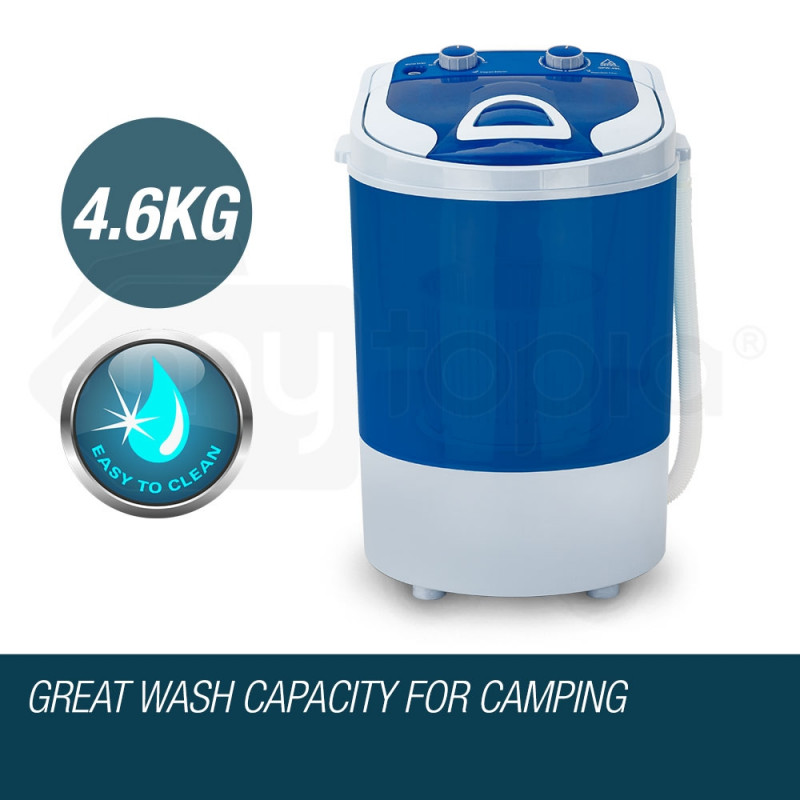 GECKO 4kg Mini Portable Washing Machine Camping Caravan Outdoor Boat RV Dry by Gecko