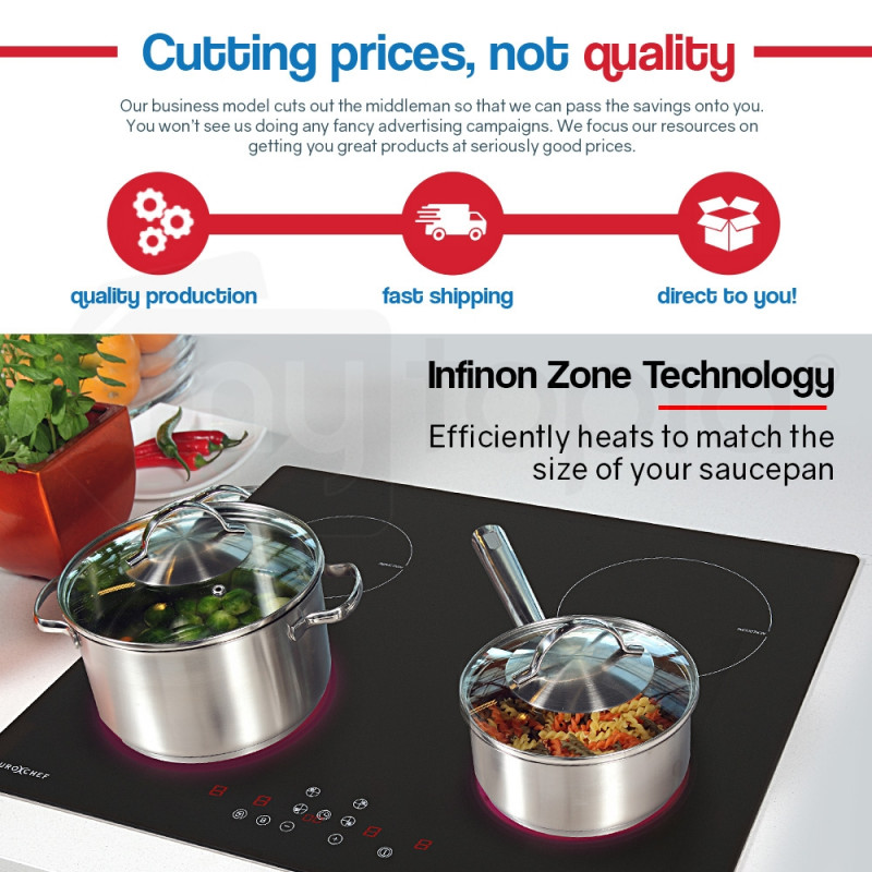 EuroChef  60cm 4 Zone Electric Induction Cooktop by EuroChef