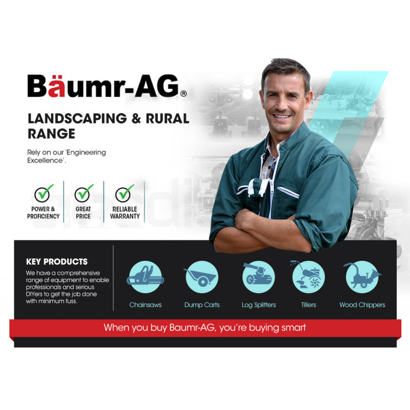 "Baumr-AG 45cc 18"" Bar E-Start Commercial Petrol Chainsaw SX45 by Baumr-AG"