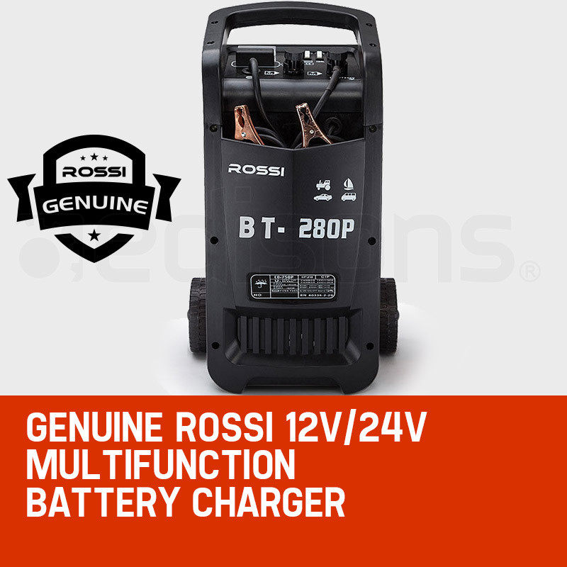 ROSSI Car Battery Charger 280A 12v/24v Jump Starter ATV Boat Truck Tractor by Rossi