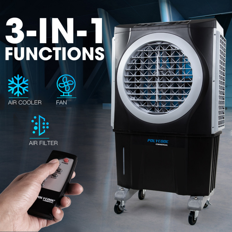 POLYCOOL 3in1 Evaporative Air Cooler Portable Fan Industrial Commercial Workshop by PolyCool