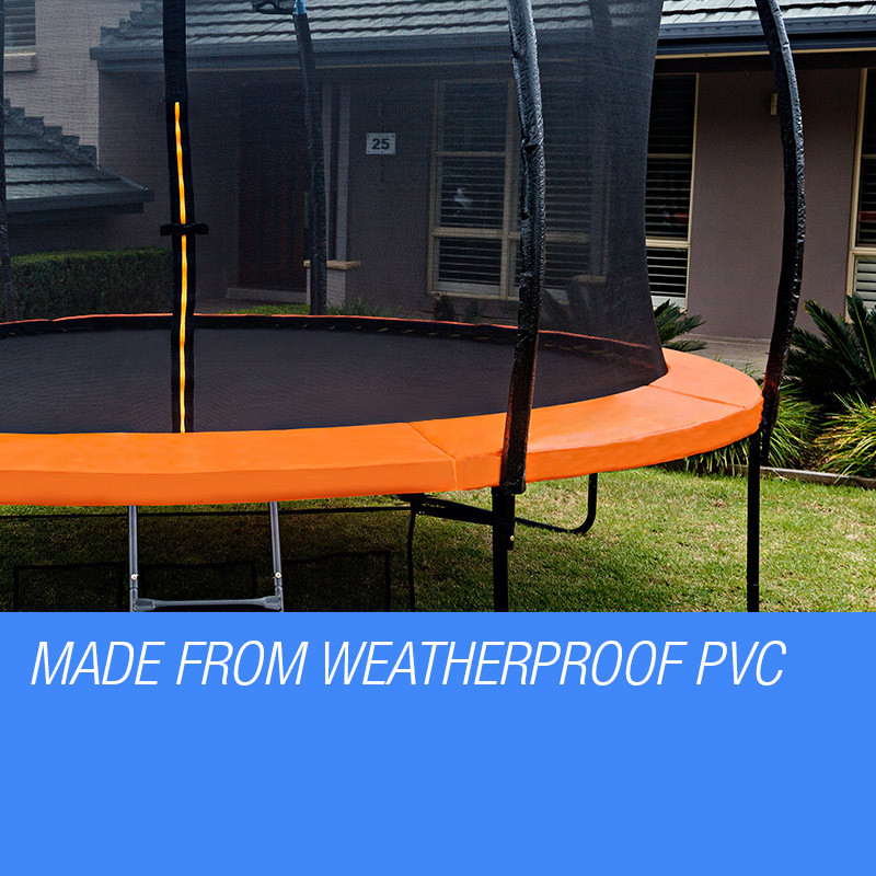 UP-SHOT 10ft Replacement Trampoline Padding - Pads Pad Outdoor Safety Round Orange by Up-Shot