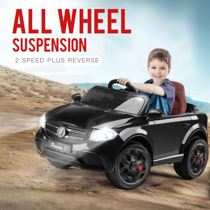 Rovo Kids Black Mercedes GLC 55 Inspired 12V Electric Kids Ride On Cars by Rovo Kids