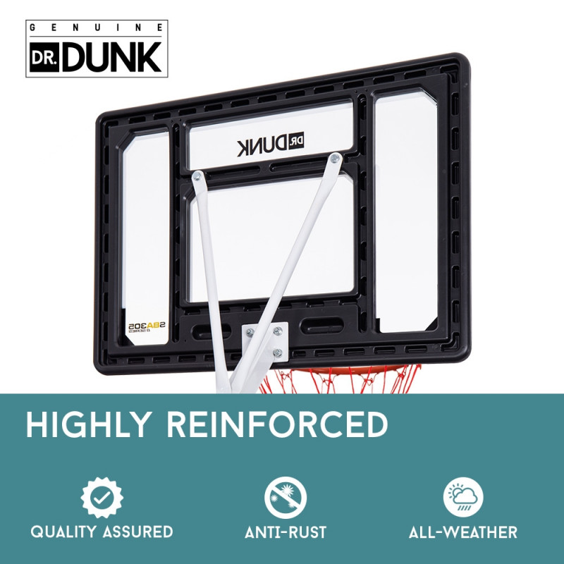 Dr.Dunk Portable Basketball Hoop Stand System Height Adjustable Net Ring Kids by Dr. Dunk