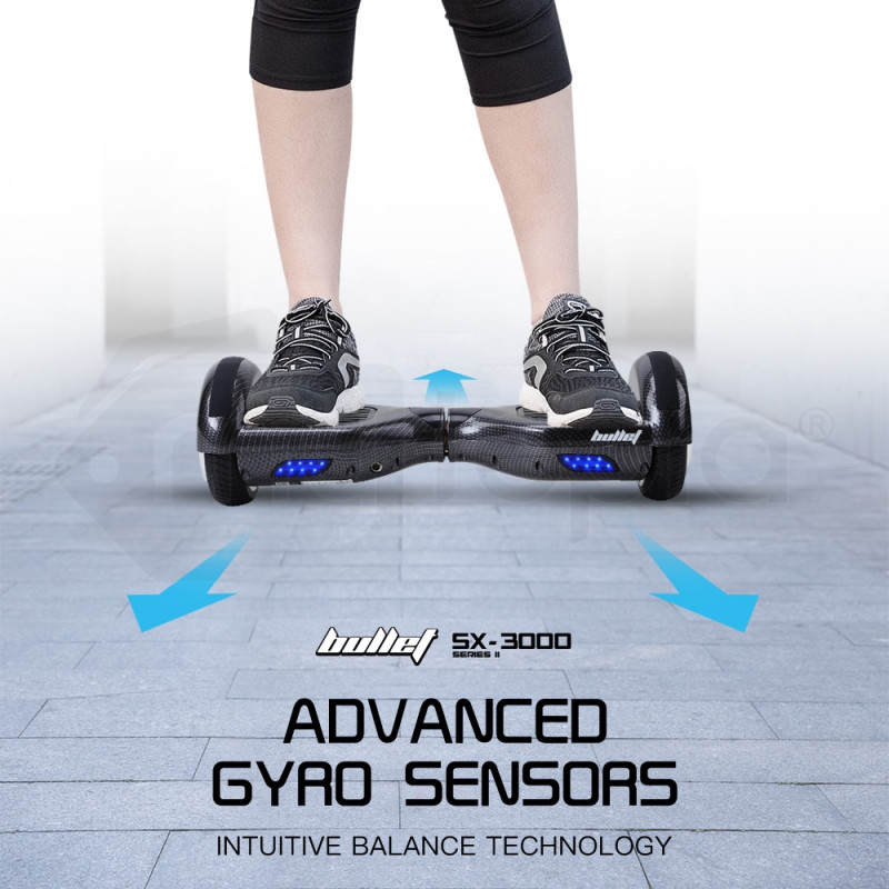 BULLET Hoverboard Scooter Carbon Self-Balancing Electric Hover Board Skateboard by Bullet