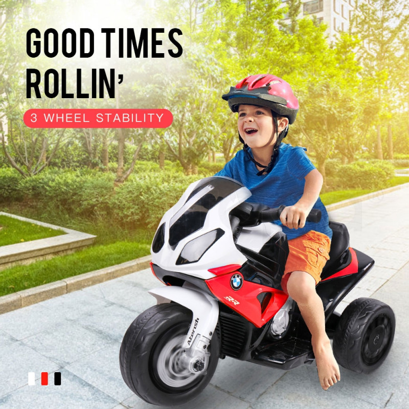 ROVO KIDS Ride On Motorcycle Licensed BMW S1000RR Electric Motorbike Police Red by Rovo Kids