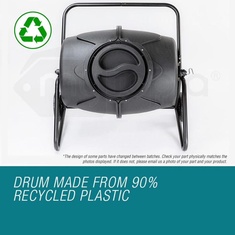 190L Aerated Compost Tumbler Bin Food Waste Garden Recycling Composter by Baumr-AG