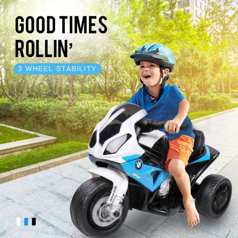 ROVO KIDS Ride On Motorcycle Licensed BMW S1000RR Electric Motorbike Police Blue by Rovo Kids
