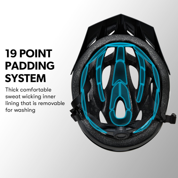 PRE-ORDER VALK Adjustable Mountain Bike Helmet 56-58cm Medium, Grey by Valk