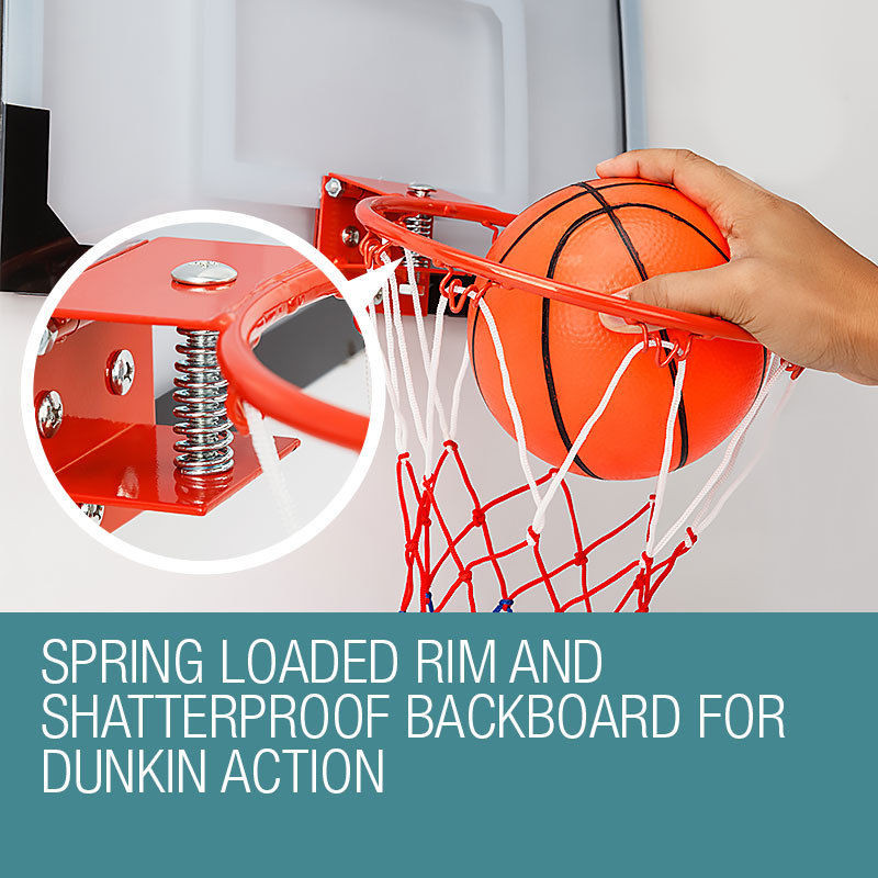 Dr.Dunk Indoor Mini Basketball Hoop Ring Backboard Kit Door Mounted Mount Kid Set  by Dr. Dunk