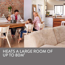 BROMIC Supaheat II Natural Gas Indoor Room Heater Portable Floor Flueless 80m2 by Bromic