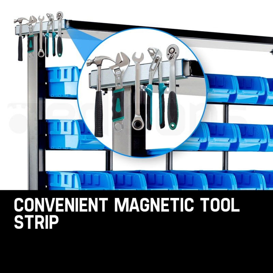 47 BIN Storage Shelving Tools Parts Rack Shelf Garage Workshop Metal 7 Tier  by Baumr-AG