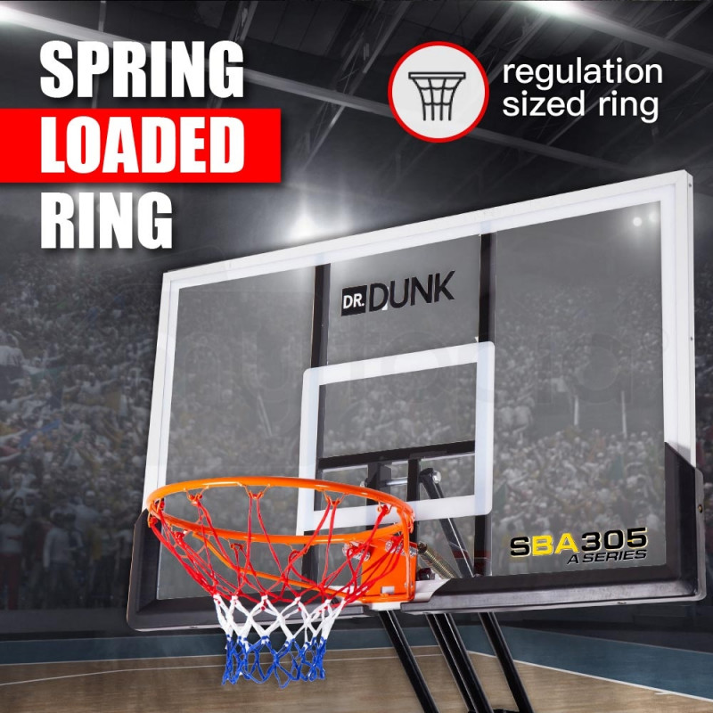 Dr.Dunk Portable Basketball Stand System Hoop Height Adjustable Net Ring Slam by Dr. Dunk