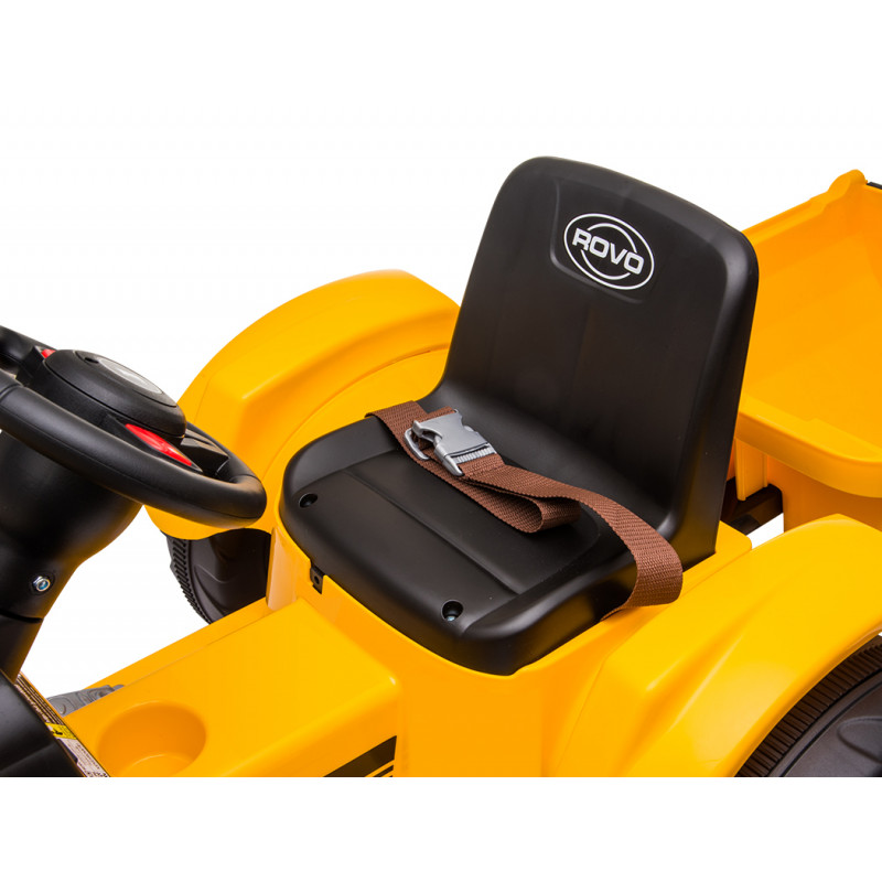 ROVO KIDS Electric Battery Operated Ride On Tractor Toy, Remote Control, Yellow by Rovo Kids