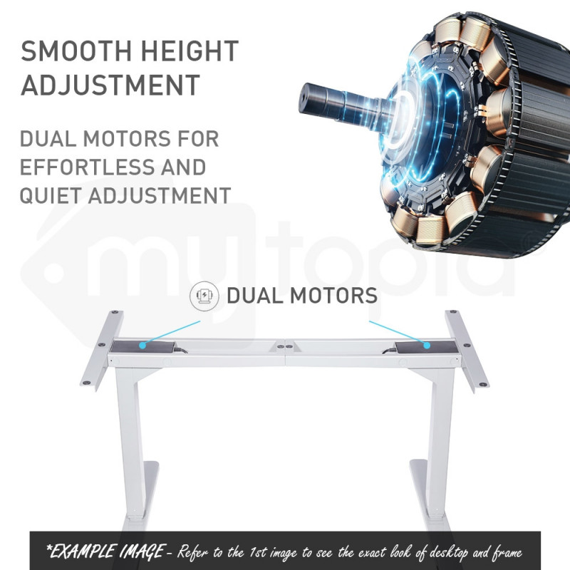 FORTIA Sit/Stand Motorised Curve Height Adjustable Desk 160cm Black/Silver by Fortia