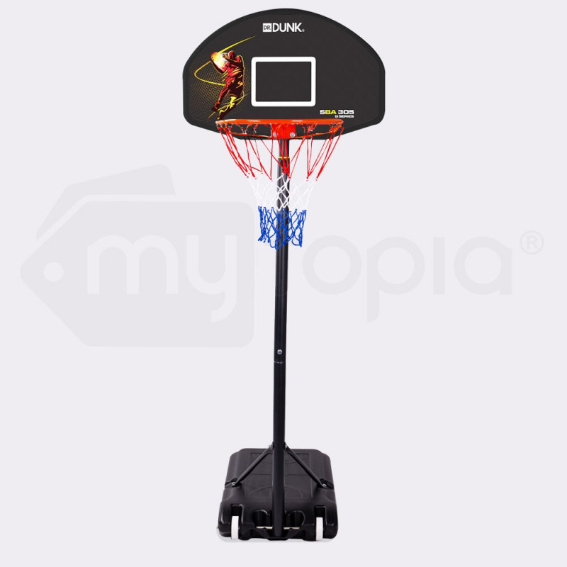 Dr. Dunk Black Height Adjustable Kids Basketball Hoop Stand by Dr. Dunk