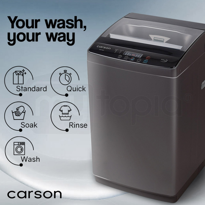 CARSON 7kg Automatic Top Load Washing Machine Home Dry Wash Automatic Washer by Carson