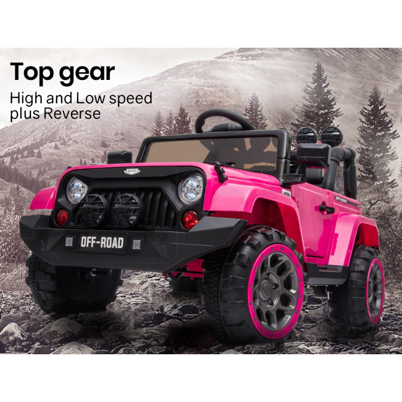 ROVO KIDS Jeep Inspired 4WD Electric Kids Ride On Car - Pink