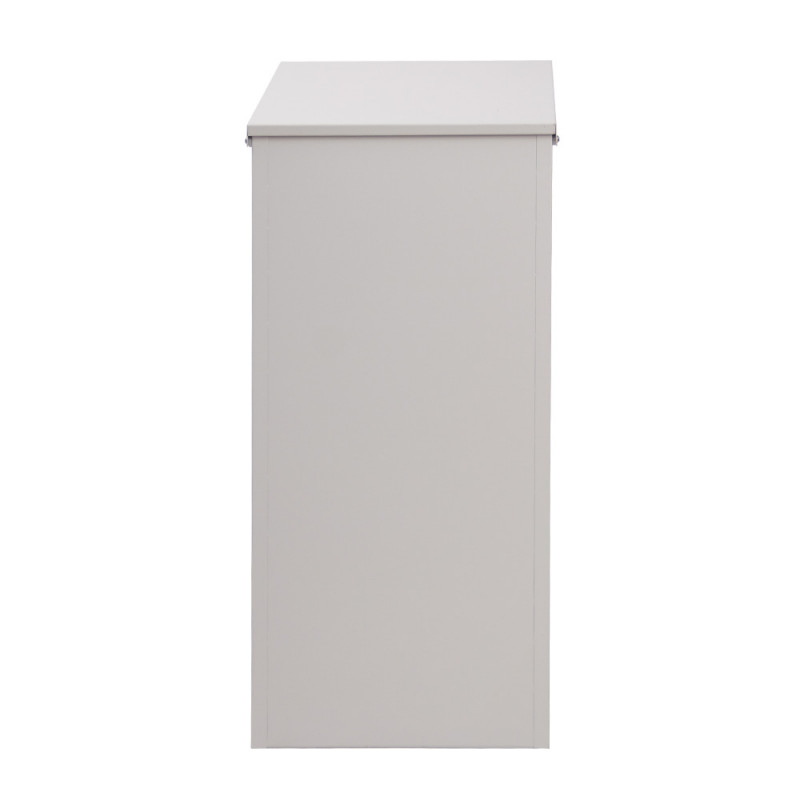 FORTIA Home Pillar Parcel Drop Letter box for Mail and Large Packages, Off White by Fortia
