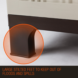 PlantCraft 91cm Lockable Outdoor Storage Cabinet - Light Grey by PlantCraft