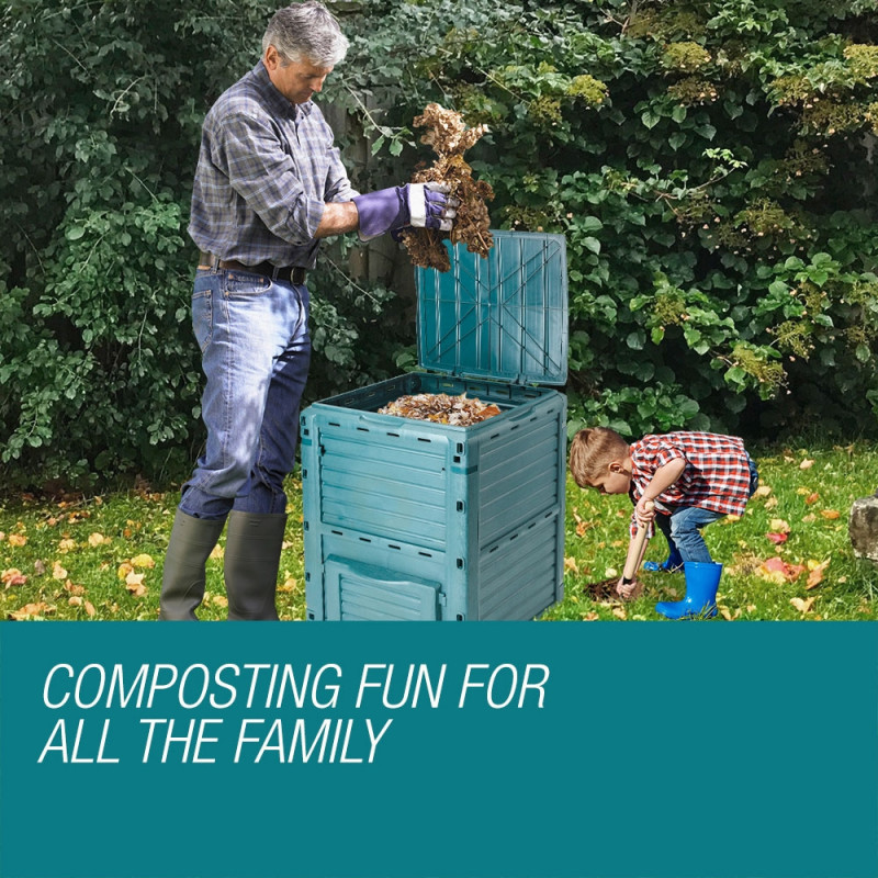 PLANTCRAFT 290L Aerated Compost Bin Food Waste Garden Recycling Composter Green  by PlantCraft