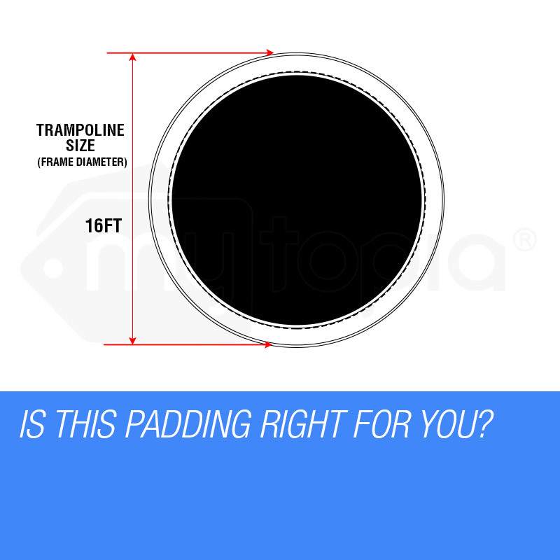 UP-SHOT 16ft Replacement Trampoline Pad Padding Springs Outdoor Safety Round by Up-Shot