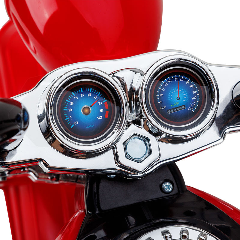 ROVO KIDS Electric Ride On Motorbike Motorcycle Harley Style Battery Toy Chopper Red by Rovo Kids