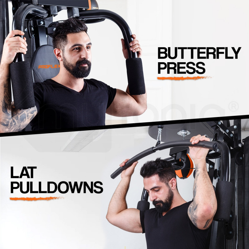 Proflex Bench Press Pull Downs Boxing Multi Station Home Gym- M9000 by Proflex