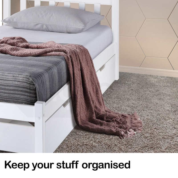 Kingston Slumber Single Wooden Bed Frame with Storage Drawer by Kingston Slumber