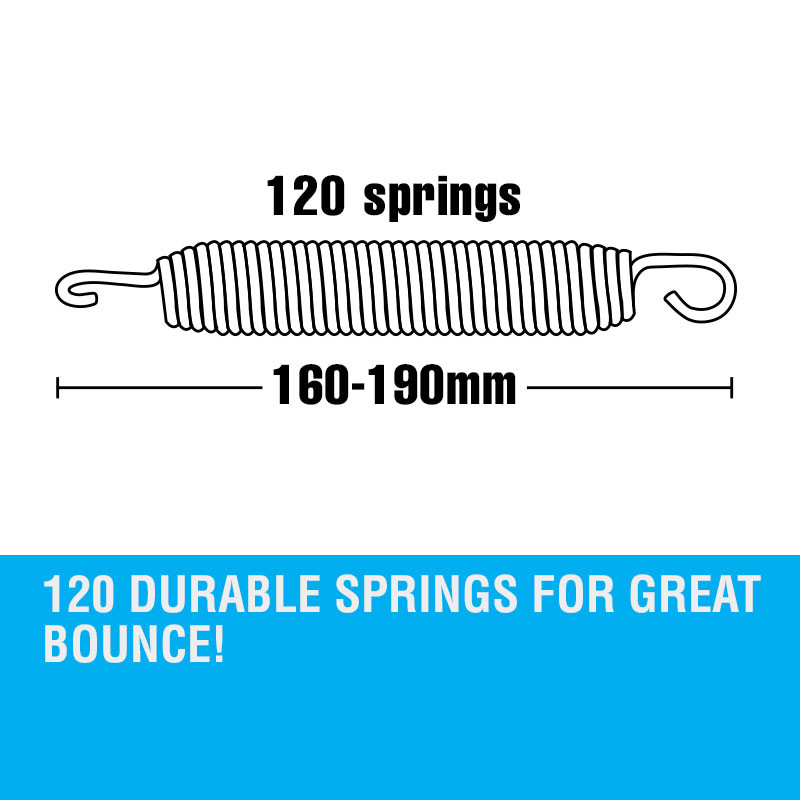 UP-SHOT 16ft Replacement Trampoline Mat 16ft - 120 Springs by Up-Shot