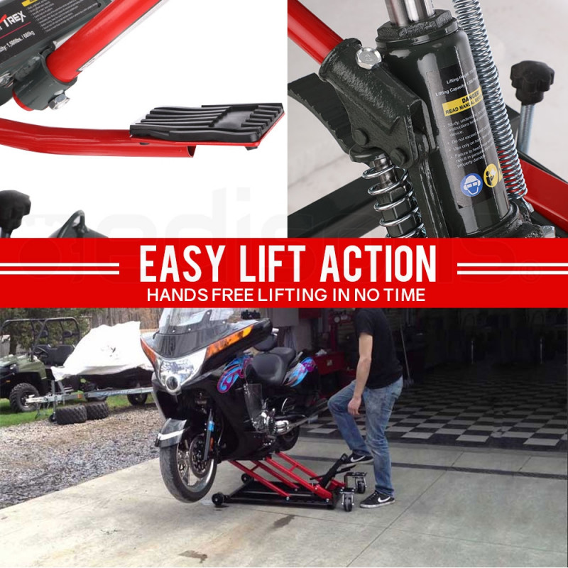 T-REX 680KG Hydraulic Motorcycle Motobike Lift Jack Motorcycle ATV Stand Hoist by T-Rex