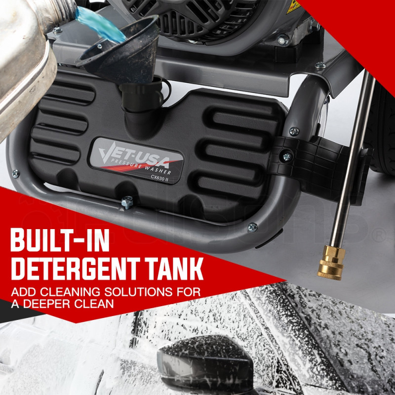 Jet-USA 4800PSI Petrol Powered High Pressure Washer- CX630 Gen IV by Jet-USA