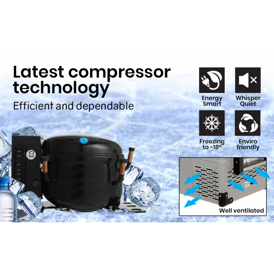 GECKO 25L Portable Fridge Freezer Cooler 12V/24V/240V Grey by Gecko