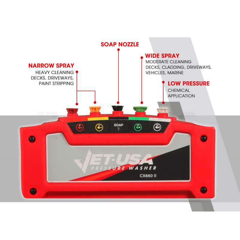 Jet-USA Petrol-Powered High Pressure Cleaner Washer CX660 by Jet-USA