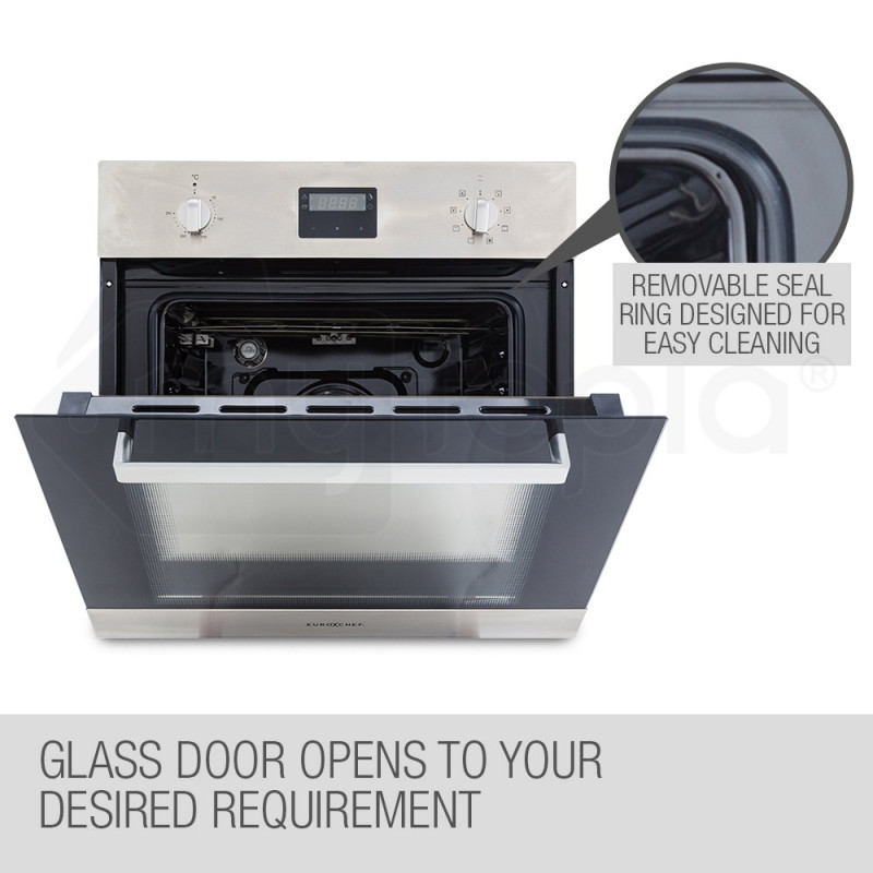 EuroChef 60cm 8 Functions Built-In Electric Wall Oven - OE708A by EuroChef