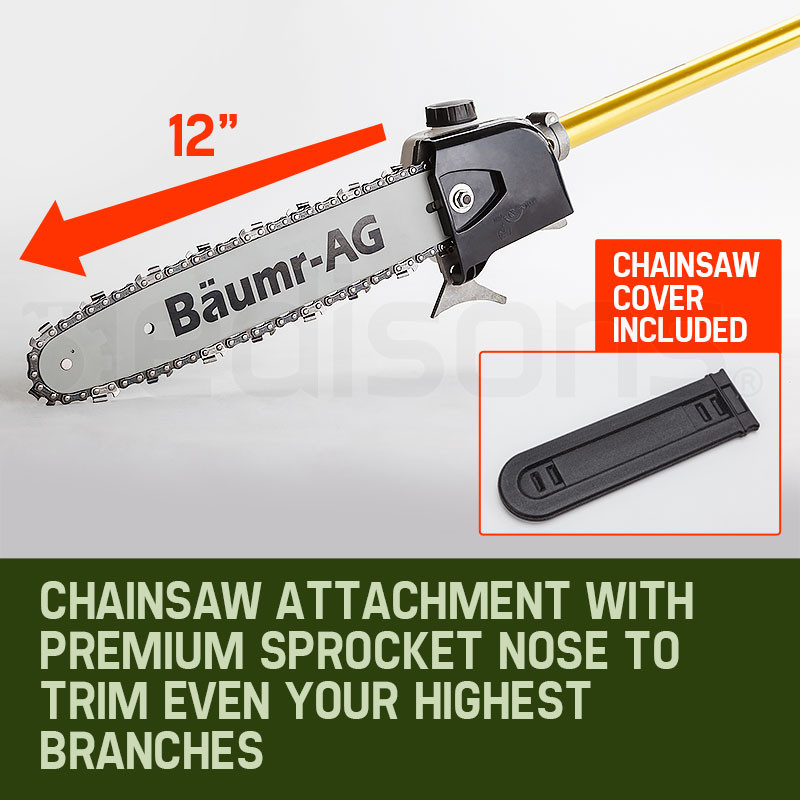 65CC Petrol Pole Chainsaw Chain Saw Pruner Pro Arbor Tree Tool Cutter  by Baumr-AG