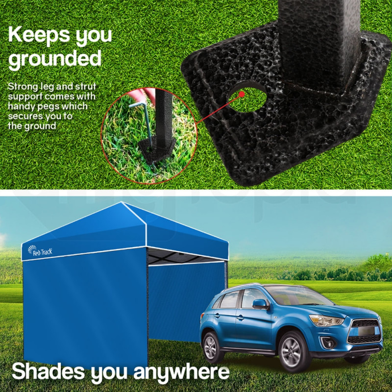 Red Track 3x3m Folding Gazebo Shade Outdoor Pop-Up Blue Foldable Marquee Blue by Red Track