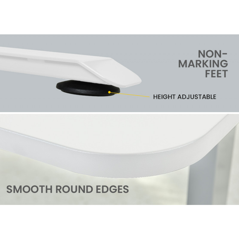 FORTIA Height Adjustable Right-Hand Sided Motorised Standing Computer Corner Desk, White by Fortia