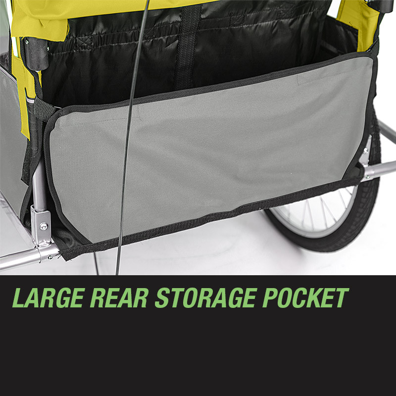Tag-along Kids Bike Trailer Bicycle Pram Stroller Children Jogger Yellow by Tag-Along