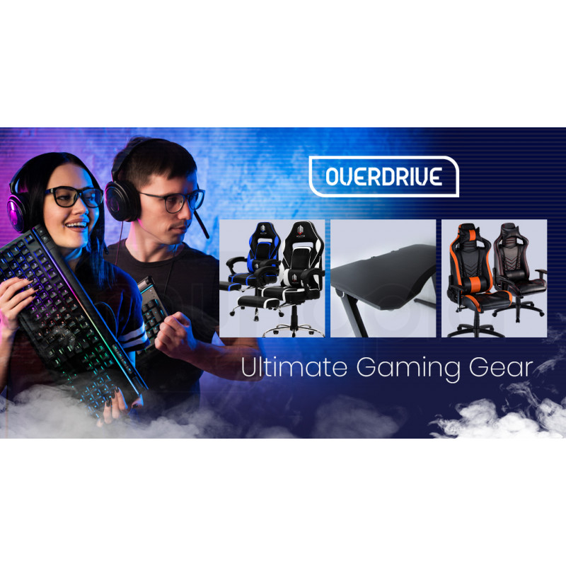OVERDRIVE Gaming PC Desk Carbon Fiber Style Black by Overdrive