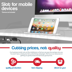 AVANTE Laptop Sit/Stand Motorised Height Adjustable Riser Desk 83cm White by Avante