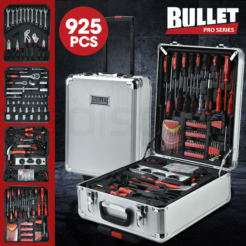 BULLET 925PC Tool Box On Wheels, Silver by Bullet Pro