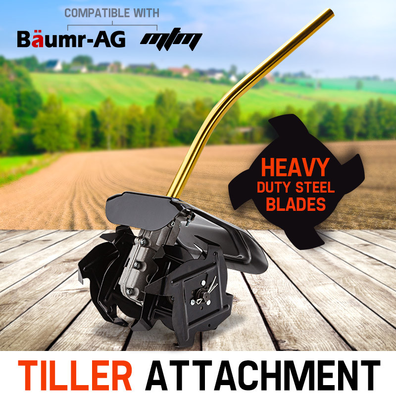 Baumr-AG Tiller Pole Attachment Rotary Hoe Cultivator Commercial Multi Extension by Baumr-AG