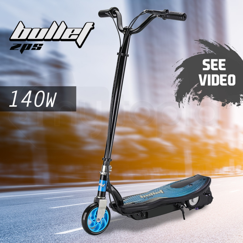 BULLET ZPS Kids Electric Scooter 140W Children Toy Battery Blue Boys Ride by Bullet