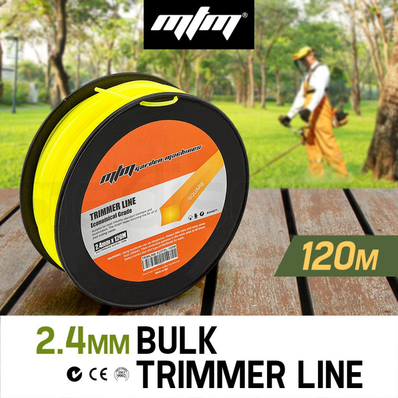 MTM 2.4mm x 120m Trimmer Line Whipper Snipper Cord Brush Cutter Brushcutter by MTM