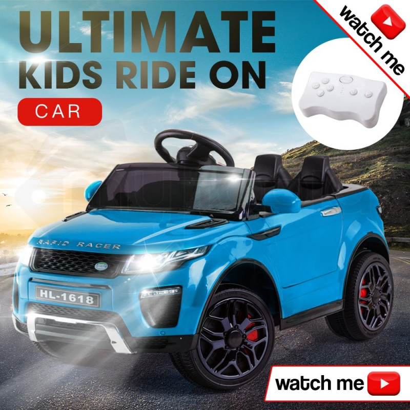 ROVO KIDS Ride-On Car Electric Battery Childrens Toy Powered w/ Remote 12V Blue by Rovo Kids