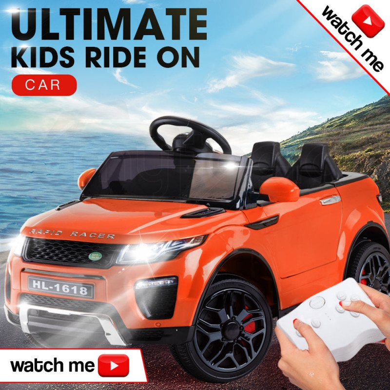 Rovo Kids Orange 12V Remote Control Ultimate Kids Ride On Electric Cars by Rovo Kids