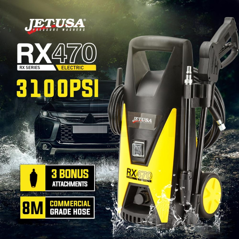 Jet-USA 3100PSI Electric High Pressure Washer- RX470 by Jet-USA